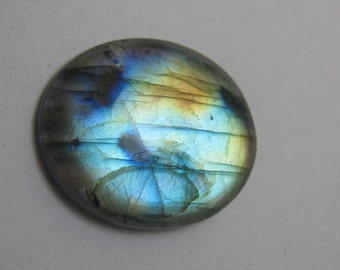 Natural labradorite gemstone cabochon oval shape loose semi precious gemstone cabochon size 21 x 26 mm approx code 289