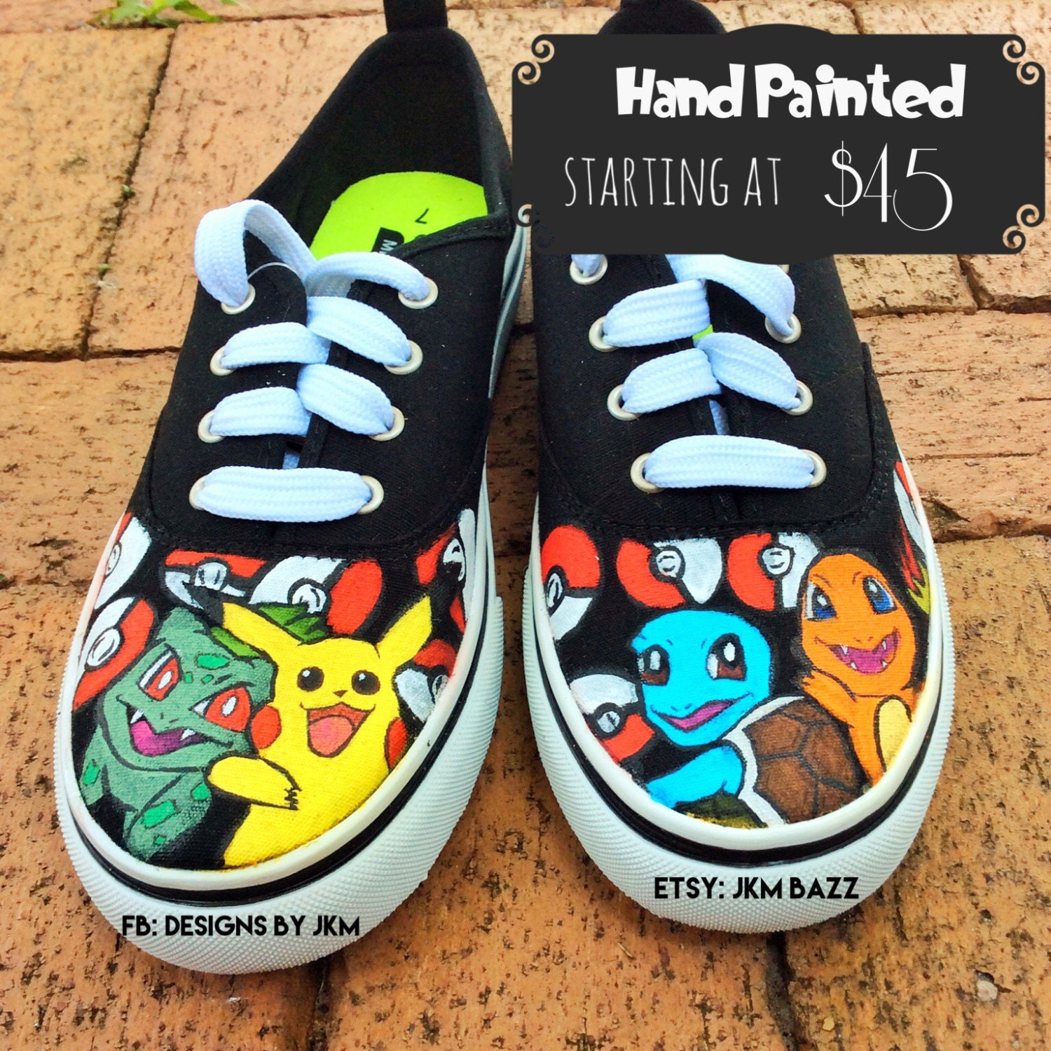 sale 30 a pairpokemon inspired canvas shoes made to order