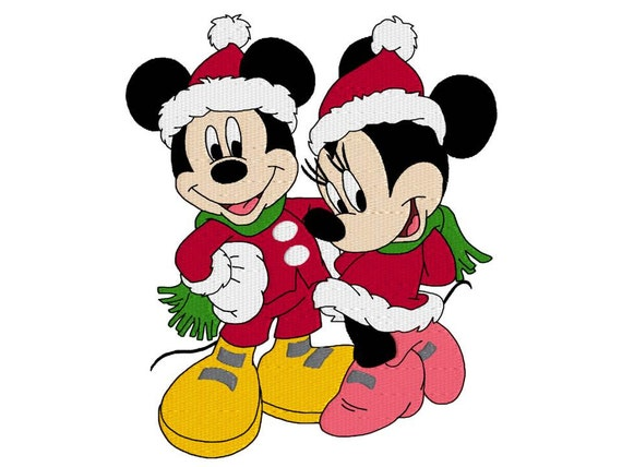 Mickey and minnie mouse disney machine embroidery design