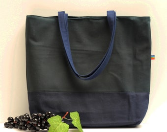 Waxed Canvas Bag - Christmas Gift - Waxed Canvas Tote - Oversize Canvas Bag - Waxed Canvas - Large Canvas Purse - Waxed Canvas Diaper Bag