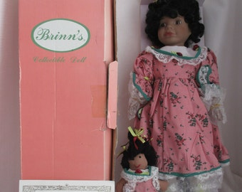 """Brinns Collectable Porcelain Doll """"Denise"""" - 1991 - In Original Box with Certificate of Authenticity"""