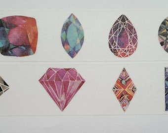 Design Washi tape diamond crystals size