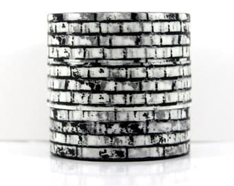 Washi tape wall black and white
