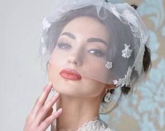 Emmeline birdcage veil Style 01602 bridal veil, wedding veil, short veil, blush, blusher veil, tulle birdcage, wedding blusher,birdcage veil