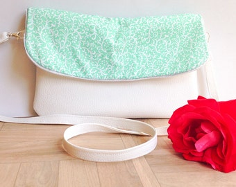 Handbag white and Mint colored