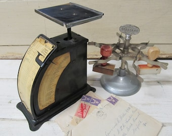 Vintage Accuracy Fanson Postal Scale, Vintage Scale, Postal Scale, Industrial Office Decor
