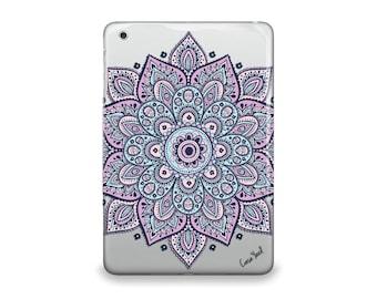 iPad Air case, iPad Mini case, iPad Mini 2 case, iPad 3 case, iPad clear case, custom iPad case, iPad TPU, Dakota Mandala Clear case