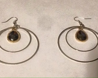 Handmade Hoop'd Gem Earrings