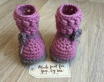 Crochet Baby Girl Willow Booties, Baby Shower Gift