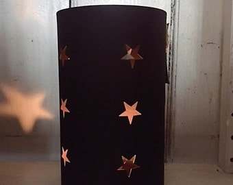 Iron star cutout votive tealight holder
