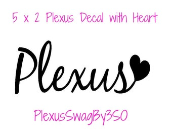 Medium Plexus with Heart Decal