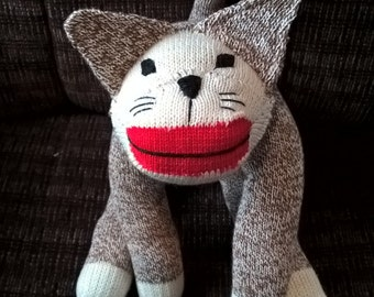 Brown Kitty made from Rockford Red-Heeled Sock