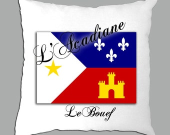 Personalized Acadian Flag Pillow Cover