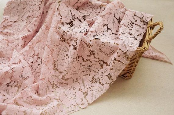 Blush Pink Lace Fabric By The Yard Bridal