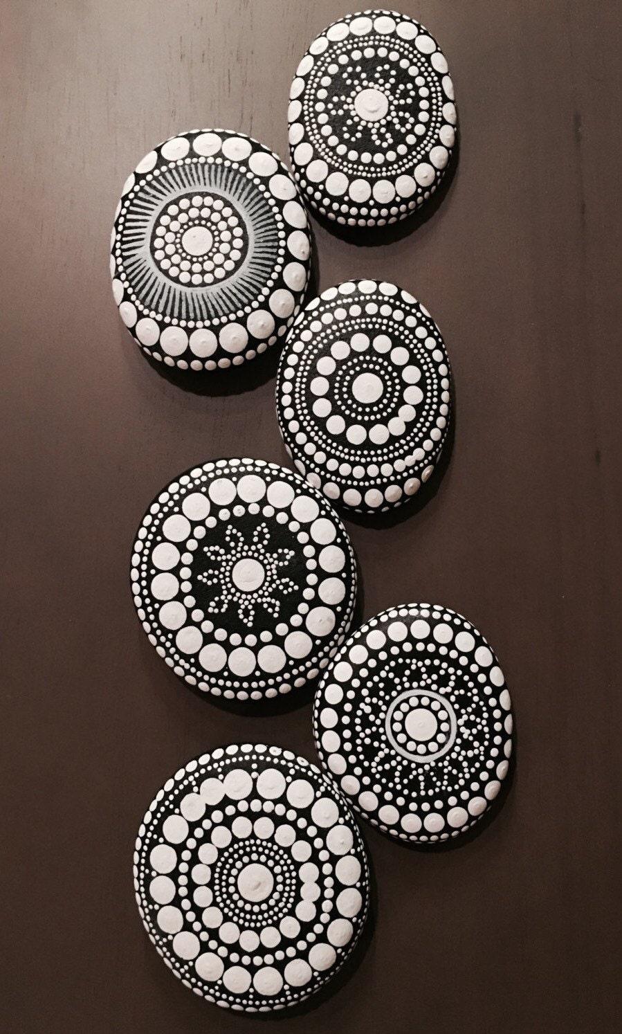 Mandala Stones Pattern Dot Painting