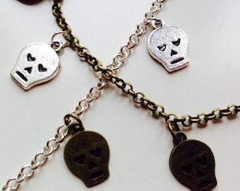 Sale | Skull | Heart | Hearts | Emo | Pretty | Charm | Bracelet