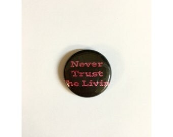 "1"" Beetlejuice pin back button"