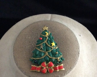 Vintage Colorful Christmas Tree Pin