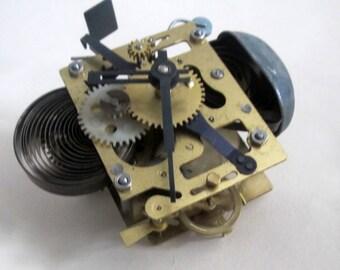 Clock Mechanism, Vintage Alarm Clock Movement Working, Soviet Clock Parts, Steampunk Supply