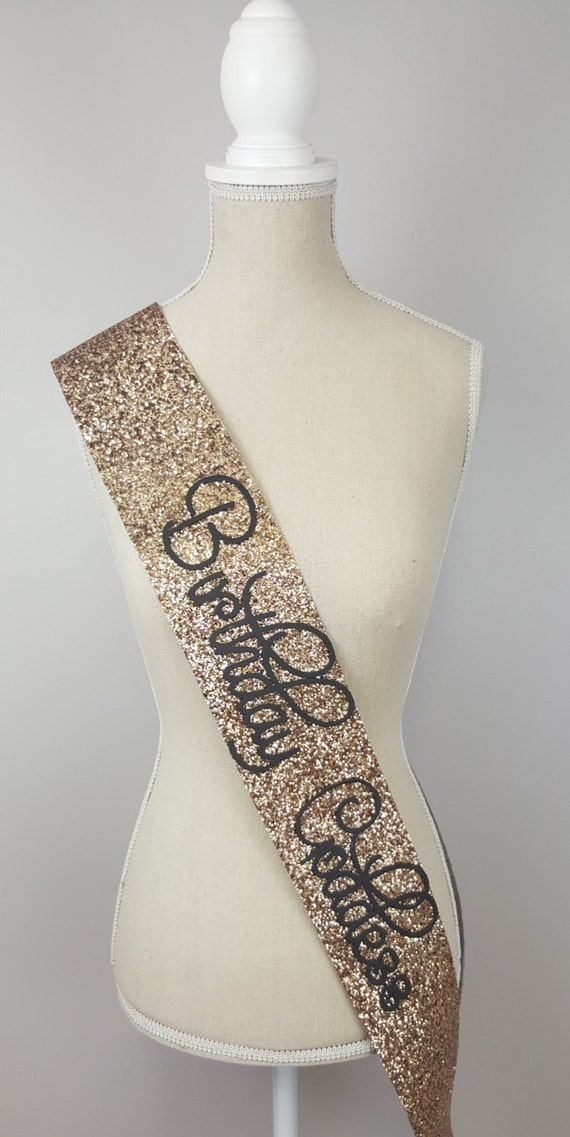 Birthday Sash Birthday Goddess Gold Glitter By Norakatie