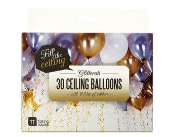 Glitterati Ceiling Balloons - 30 pack