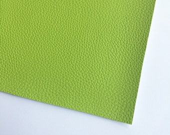 Lime Green Textured Faux Leather, Vinyl, Leatherette, Lime Green, Vegan Leather, Hair Bow, Fake Leather, Faux Leather Sheet, Green Leather