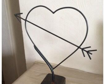 Steel Valentines Day Cupid Love Heart