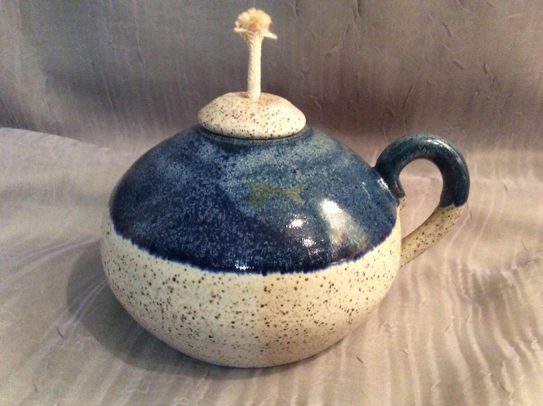 Pottery Oil Lamp Small Pottery Oil Lamp Handmade Ceramic Oil