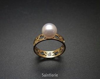 8-8.5 mm Akoya Pearl Ring