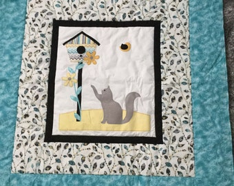 Cat quilt for baby or lap.