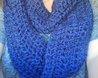 Navy Blue Infinity Scarf