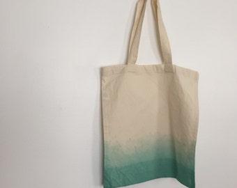 Dip Dyed Organic Cotton Tote Bag