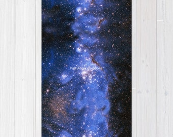 Blue Embrionic Stars Accent Rug, 3 Sizes Available!