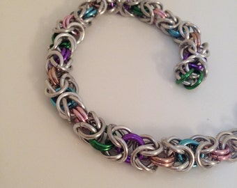 Multi-color Byzantine Chainmaille Bracelet