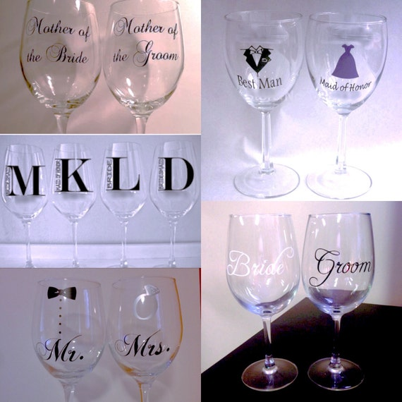 Personalized Wine Or Champagne Glasses With Or By Notjustadate