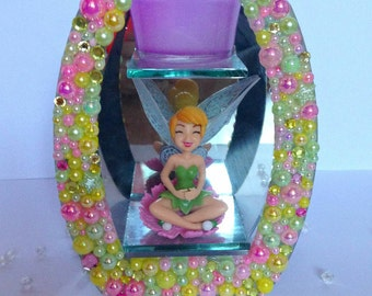 Tinkerbell Glass Tea Light Holder