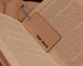 Personalised wooden bookmark