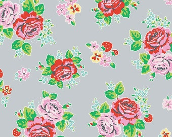 1/2 yd Strawberry Biscuit Main Gray by Elea Lutz for Riley Blake & Penny Rose Fabrics C5100 Gray