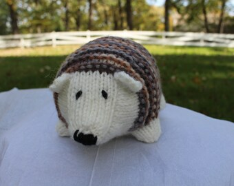Knit Stuffed Hedgehog
