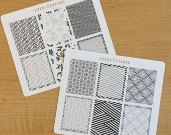 Black & White Theme (EC Vertical) Stickers