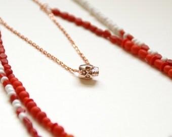 Desert Sunset Skull Necklace