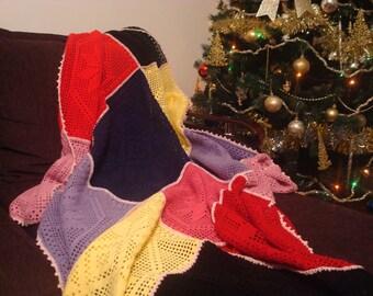 Multicolored Handmade Blanket