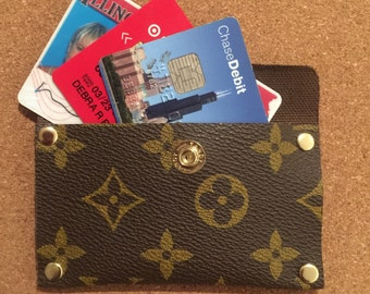 Credit card/ID/Business card case from Louis Vuitton canvas 4 1/4 by 2 1/4