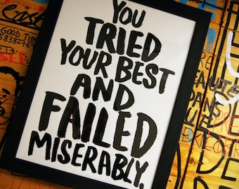 You tried your best and failed miserably. Screen print