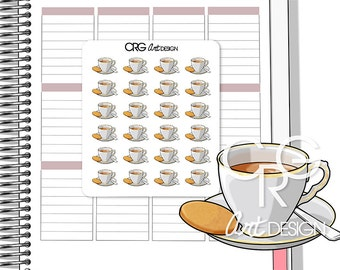 Tea Cup Stickers | Planner Erin Condren Plum Planner Filofax Sticker
