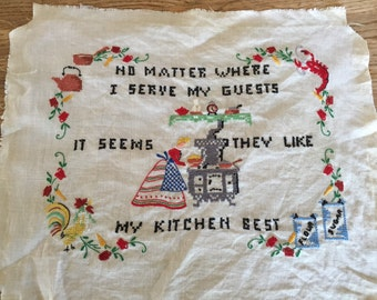 My Kitchen Needlepoint Wall Devor