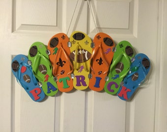 Flip flop wreath with your name on it