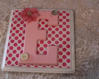 Decorated Wooden Name Tiles, Nursery Decor, Name Plaque, Personalized Name, Wall Decor