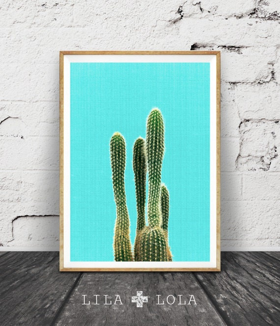 Desert Decor Western Espagne: Cactus Wall Art Turquoise Decor Mexican Arizona South By
