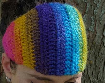 Crochetted Rainbow Headband